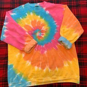 Tie Dye Sweatshirt Neon Comfort Colors 2X Plus